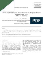 Jurnal Pembuatan Kertas Dengan Bagas Sorgum