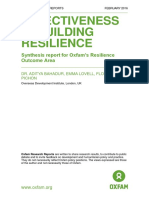 Effectiveness in Building Resilience