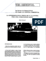 Perspectivas Alternativas Del Movimiento Para La Justicia ambiental