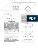 Lista de exercicios - Fisica III - Circuitos  eletricos
