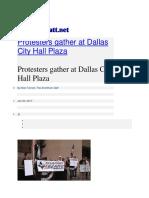 Lico Reyes - Protestors Gather at Dallas City Hall Plaza. Story by Mr. Tarrant of the UTA Shorthorn.pdf