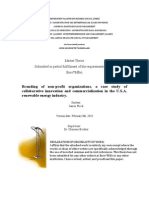 Branding of non profit organizations, a case study of collaborative innovation and commercialization in the U.S.A. renewable energy industry