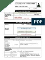 Nuevo Formato de MOF Supervisor de Mantenimiento Eléctrico