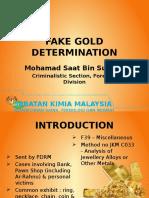 Fake Gold Determination