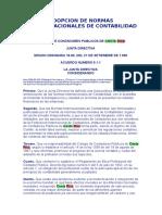 Adopción de Normas Internacionales de Contabilidad-CCP-CR