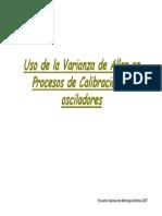 uso de la varianza de allan en procesos de calibracion de osciladores