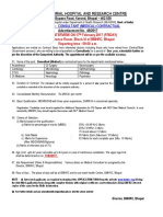 Notification BMHRC Consultant Medical Posts