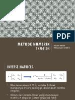 6 Solusi Sistem Persamaan Linier 2