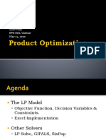 Product Optimization_Sunil Pillai