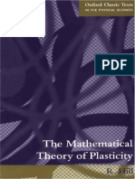 The Mathematical Theory of Plasticity by R Hill