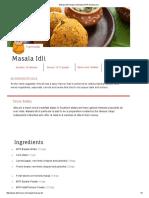 Masala Idli Recipe _ Kannada _ MTR Dishcovery