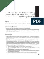 Flexural STrength of Beam ASTM C78