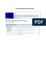Substitution Rule for Scrap Value in SAP Leasing