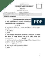 Quiz 1 - 4