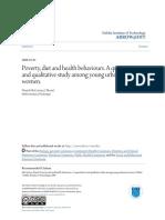 Poverty Diet and Health Behaviours. a Quantitative and Qualitat
