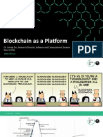 Blockchain as Platform