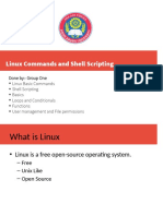 Basics on Linux an Commands and shell scriptig