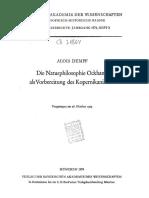 Dempf Die Naturphilosophie Ockhams Als Vorbereitungdes Kopernikanismus