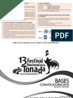 Bases de la convocatoria 2010 para el Festival Nacional de la Tonada