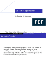 Calculus Applications