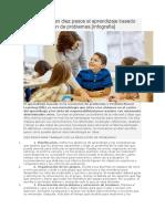 Cómo Aplicar en Diez Pasos El Aprendizaje Basado en La Resolución de Problemas