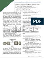 Novel Approach for Mining E-Commerce Feedback Comments Using Comm Trust Data Mining Algorithm