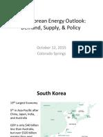 South Korean Energy Outlook 2015