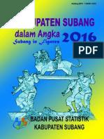 Kabupaten Subang Dalam Angka 2016