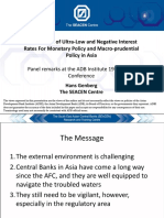Implications of Ultra-Low and Negative Interest Rates for Monetary Policy and Macro-prudential Policy in Asia
