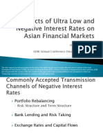 Effects of Ultra Low and Negative Interest Rates on Asian Financial Markets