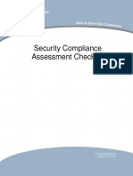 Project Security Compliance Assessment Checklist