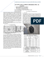 Investigation of impact of Fly Ash as a Filler in bituminous Mix- An overview