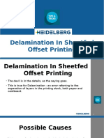 Delamination in sheetfed offset printing