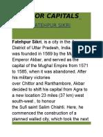Major Capitals Fatehpur