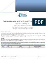 Functionality Doc Fleet Management App Version1