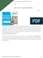 Delta - Star Transformation _ Star - Delta Transformation _ Electrical4u