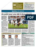 Match AJA - Sochaux du 9 septembre 2016