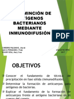 Determinacion de Ntigenos Bacterianos Mediante Inmunodifusion