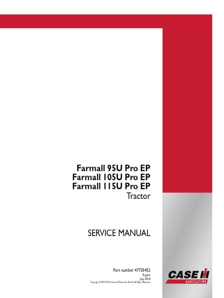 case ih u 95 105 115 service manual farmall pdf transmission rh es scribd com case ih farmall 95 owners manual case ih jx 95 service manual