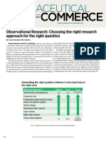 Observational Research Choosing the Right Research Approach for the Right Question by Louise Parmenter, PhD, Quintiles