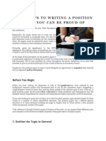 Four Steps to Writing a Position Paper You Can Be Proud Of