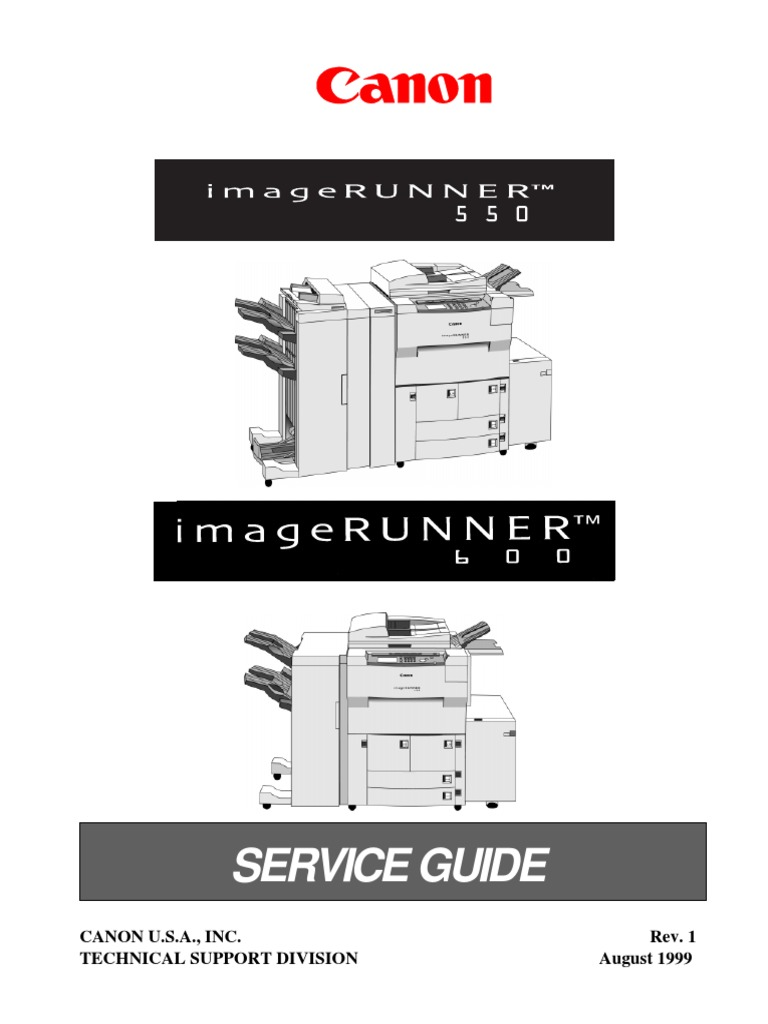 imageRUNNER iR550, iR600 Service Guide.pdf | Photocopier | Printer  (Computing)