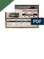 Team Yankee - Unit Card - Bundeswehr - M113 Panzermörser