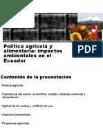 Política agrícola y alimentaria