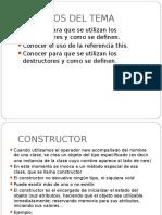 Conocer Para Que Se Utilizan Los Constructores y Como Se Definen. Java