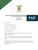 Address by President Jacob Zuma