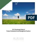 2012 Benchmark Study Product Development Management Practices