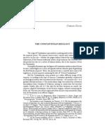 Cristian Olariu, The Constantinian Ideology, in Rakocija, Misa, ed., Niš and Byzantium. Seventh Symposium. Niš, 3-5 June 2009. The Collection of Scientific Works VIII, Niš, 2010, pp. 163-174.