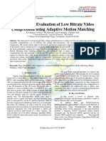 Performance Evaluation of Low Bitrate Video  Compression using Adaptive Motion Matching