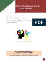 Introducción a Las Lenguas de Especialidad